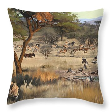 Arrival Throw Pillow by Rob Corsetti