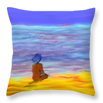 Arrividerci Sole Throw Pillow
