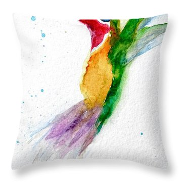 Arriving Throw Pillow by Beverley Harper Tinsley