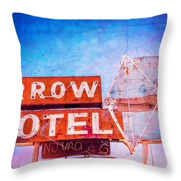 Arrow Motel Throw Pillow by Steven Bateson