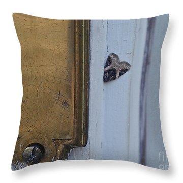 Arrowhead Doorbell Moth Throw Pillow