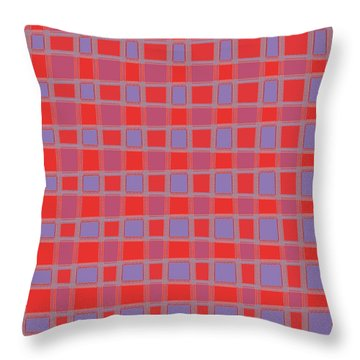 Art 1906 Elegant Graphic Pattern Squares Colorful Digitalart Graphicart Surface Texture Design Multi Throw Pillow