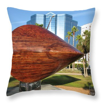 Throw Pillow featuring the photograph Art 2009 At Sarasota Waterfront by Christiane Schulze Art And Photography