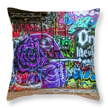 Art Alley Panorama Throw Pillow