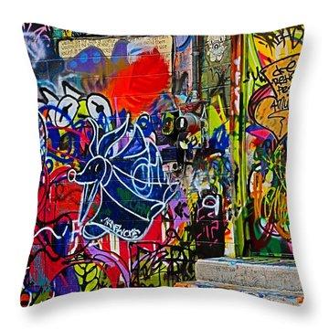Art Alley Three Throw Pillow