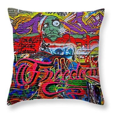 Art Alley Two Throw Pillow