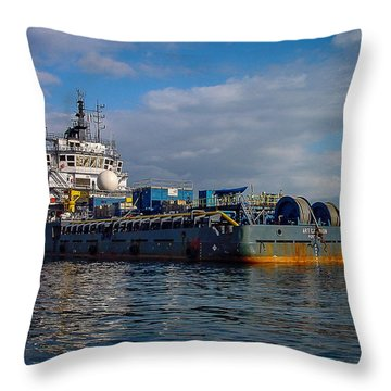 Art Carlson Throw Pillow