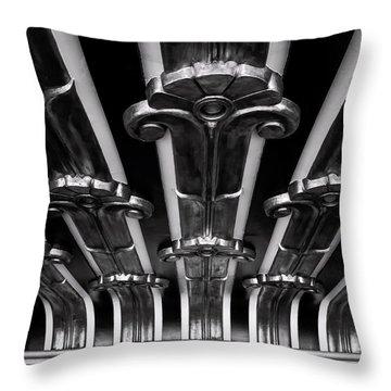 Art Deco At The Henry Fonda Bw Throw Pillow