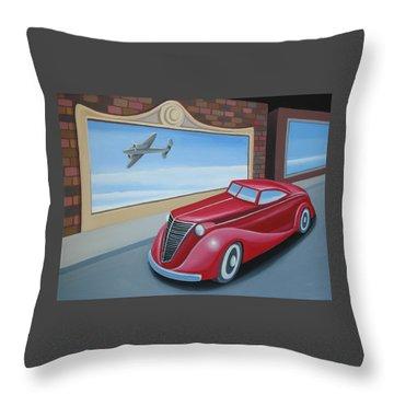 Art Deco Coupe Throw Pillow by Stuart Swartz