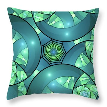 Throw Pillow featuring the digital art Art Deco by Gabiw Art