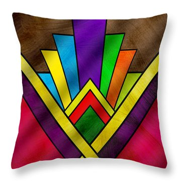 Art Deco Pattern 7v Throw Pillow