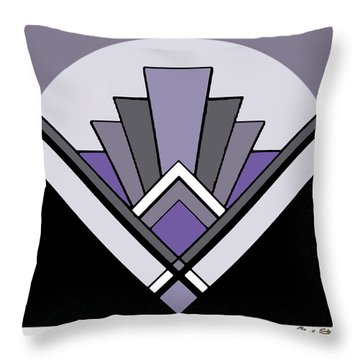 Art Deco Pattern Two - Purple Throw Pillow