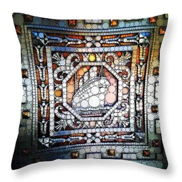 Art Deco Percolated Throw Pillow by Natasha Marco