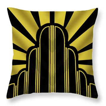 Art Deco Poster - Title Throw Pillow