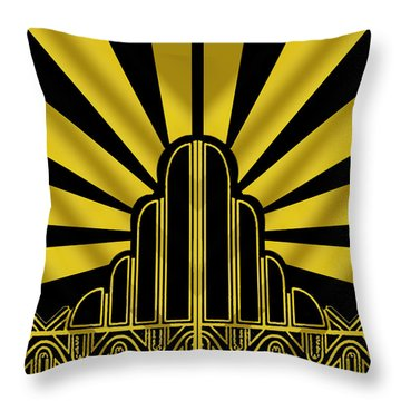Art Deco Poster - Two Throw Pillow