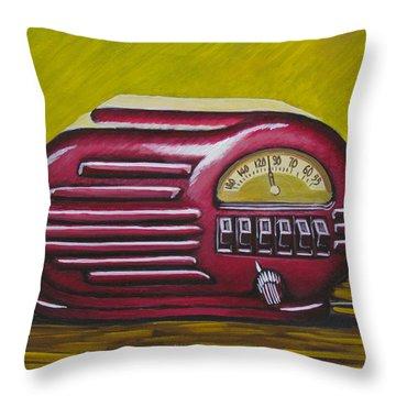 Art Deco Radio Throw Pillow