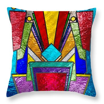 Art Deco - Stained Glass 6 Throw Pillow