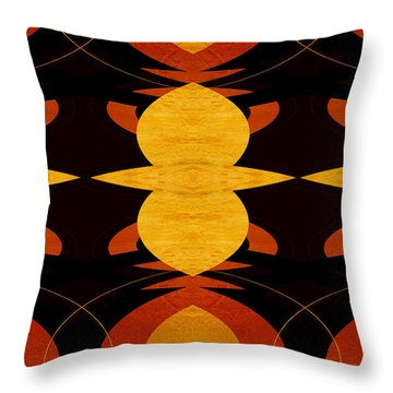 Art Deco Two - Abstract Art Throw Pillow by Ann Powell
