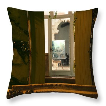 Art Gallery Throw Pillow by Bob Phillips
