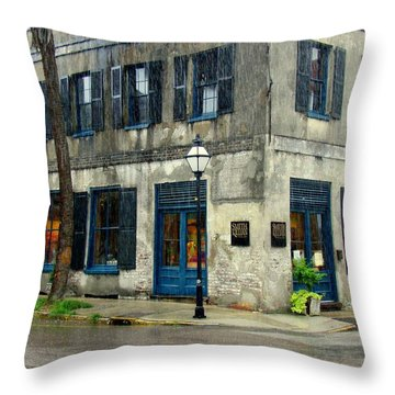 Throw Pillow featuring the photograph Art Gallery In The Rain by Rodney Lee Williams