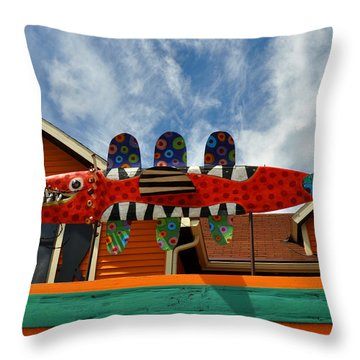 Art Gallery Suttons Bay Mi Throw Pillow by Diane Lent