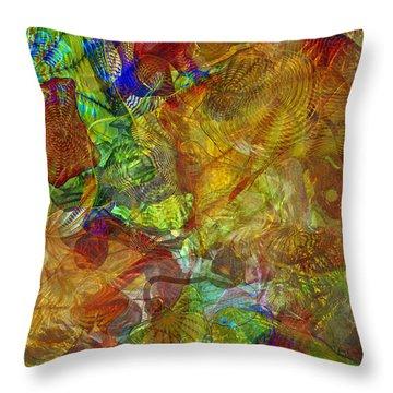 Art Glass Overlay Throw Pillow