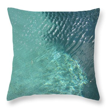 Art Homage David Hockney Swimming Pool Arizona City Arizona 2005 Throw Pillow