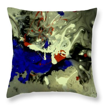 Art In A Sink Throw Pillow by Kelly Awad