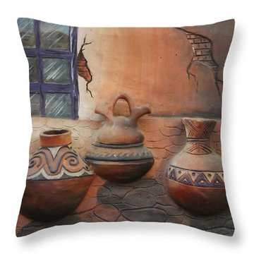Art In Colombia Throw Pillow