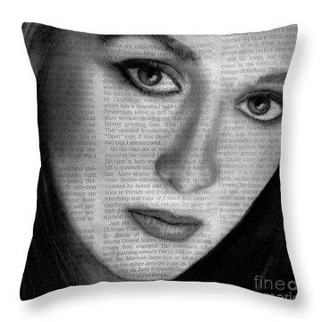 Art In The News 34- Meryl Streep Throw Pillow