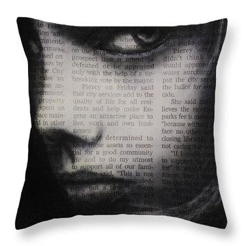 Art In The News 9 Throw Pillow by Michael Cross