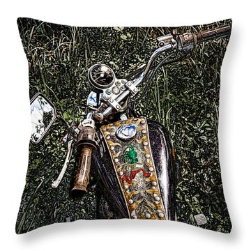 Art In The Weeds Throw Pillow by Melinda Ledsome