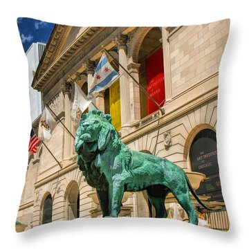 Art Institute In Chicago Throw Pillow by Christopher Arndt