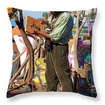 Art Is A Thing Throw Pillow by Suzanne Gaff