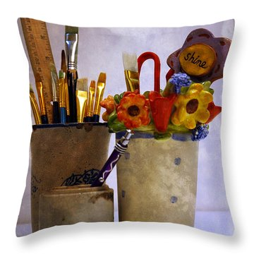 Art Is Good For The Soul Throw Pillow by Lena Wilhite