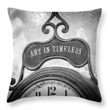 Art Is Timeless Throw Pillow