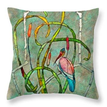 Art Nouveau Throw Pillow by Jack Zulli