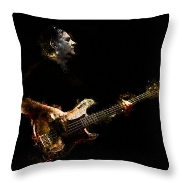 Throw Pillow featuring the photograph Art Of Bass by John Rivera