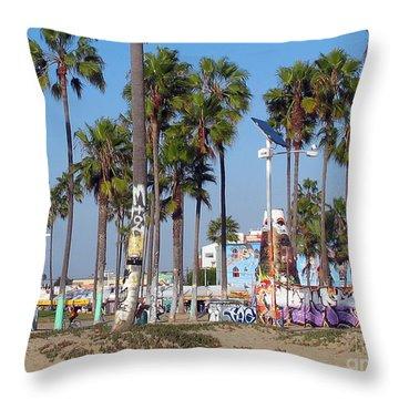 Art Of Venice Beach Throw Pillow