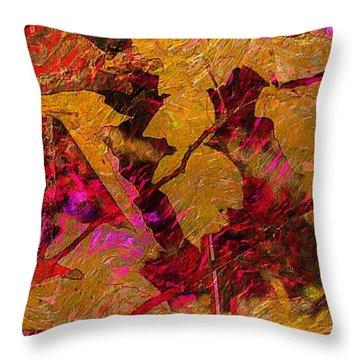 Throw Pillow featuring the digital art Art On A Branch by Steven Lebron Langston