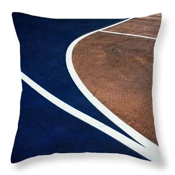 Art On The Basketball Court  11 Throw Pillow