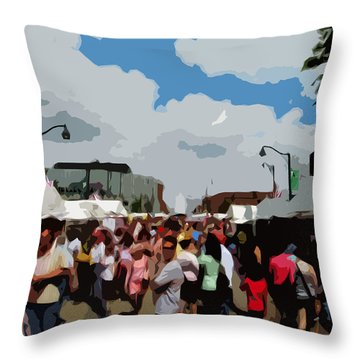 Throw Pillow featuring the photograph Art On The Square - Belleville Illinois by John Freidenberg
