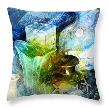 Art Pottery Still Life In Light And Color Throw Pillow