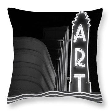 Art Theatre Long Beach Denise Dube Throw Pillow