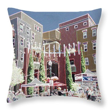 Art Walk San Diego Throw Pillow