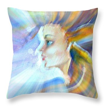 Throw Pillow featuring the painting Artemis by Leanne Seymour