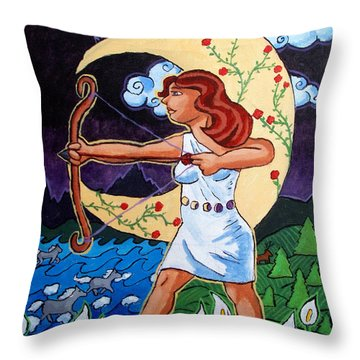 Artemis Throw Pillow by Whitney Morton