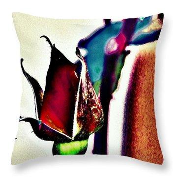 Throw Pillow featuring the photograph Artful Bud by Faith Williams