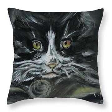 Throw Pillow featuring the pastel Arthur  by Teresa White