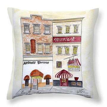 Arthur's Tavern - Greenwich Village Throw Pillow